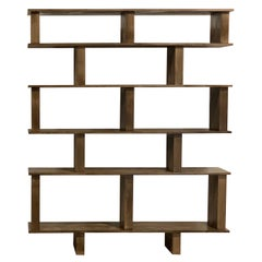 Solid Stained Oak Verticale Shelving Unit by Design Frères