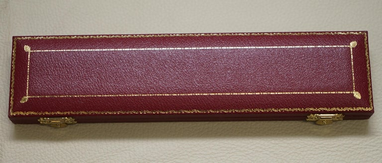 Late 20th Century Solid Sterling Silver Asprey London 1995 Letter Opener in Original Velvet Box For Sale