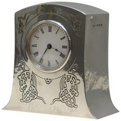 Solid Sterling Silver Liberty's London 1915 Miniature Carrage Clock Tudric Feel