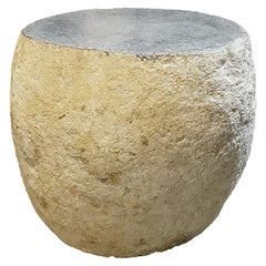 Solid Stone End Table or Stool
