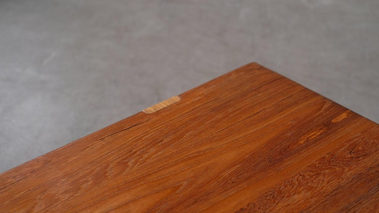 Solid teak and Ash Table / Bench by Michael Bloch For Sale 3