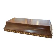 Solid Teak and Brass Platform Base or Plinth