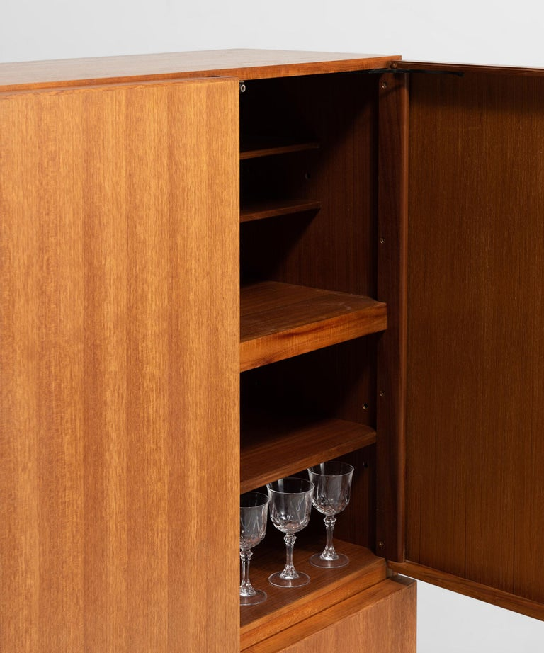 Solid Teak Cabinet by Robert Heritage for Gordon Russell In Good Condition For Sale In Culver City, CA