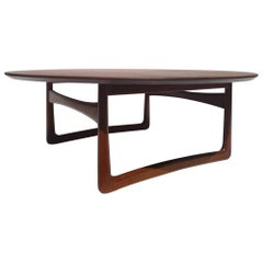 Solid Teak Danish Coffee / Cocktail Table by Peter Hvidt for France & Son