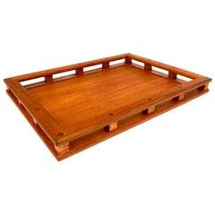 Solid Teak Danish Modern Dansk Tray Designed by Quistgaard