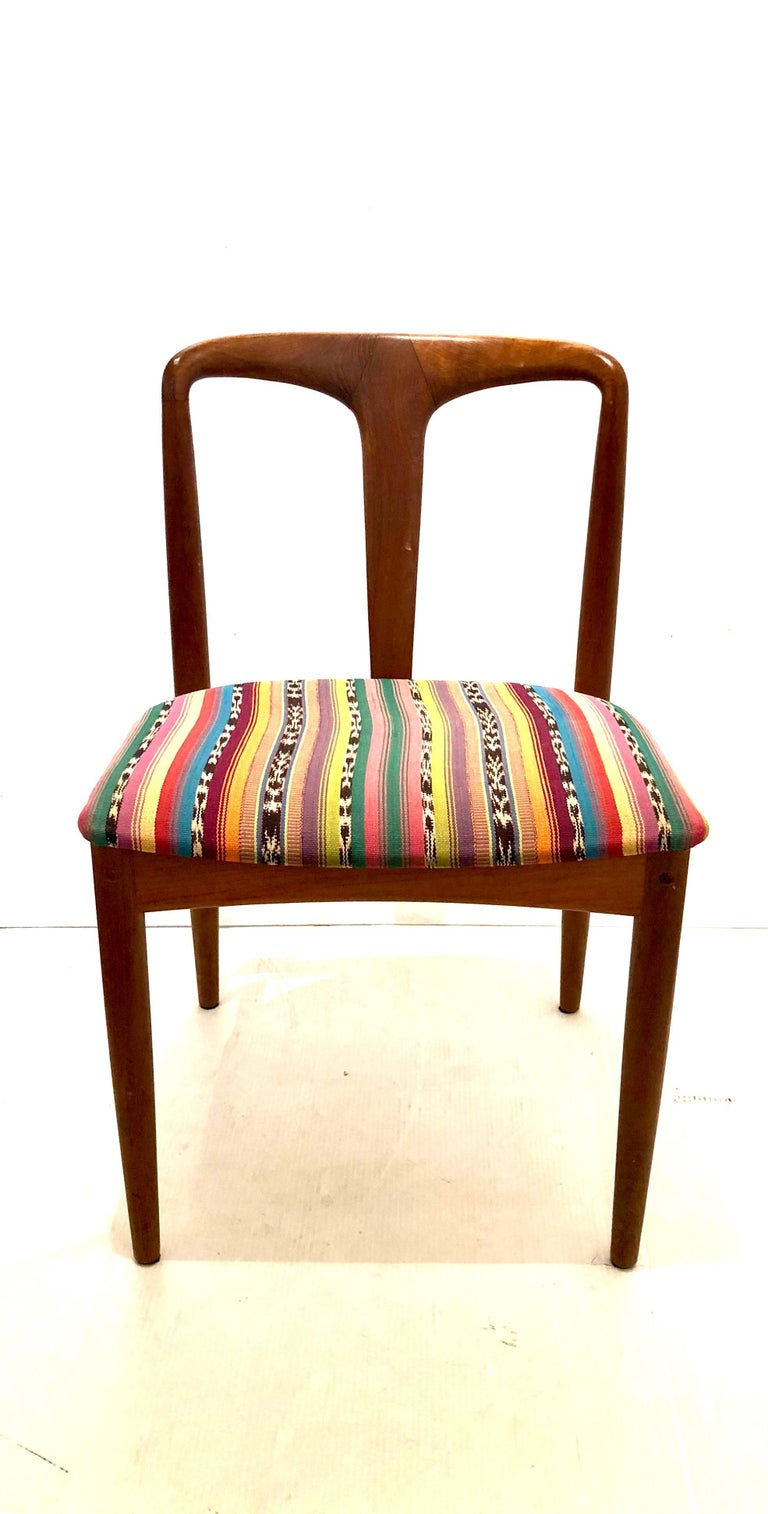Scandinavian Modern Solid Teak Danish Modern Desk Chair by Johannes Andersen for Uldum Mobelfabrik For Sale