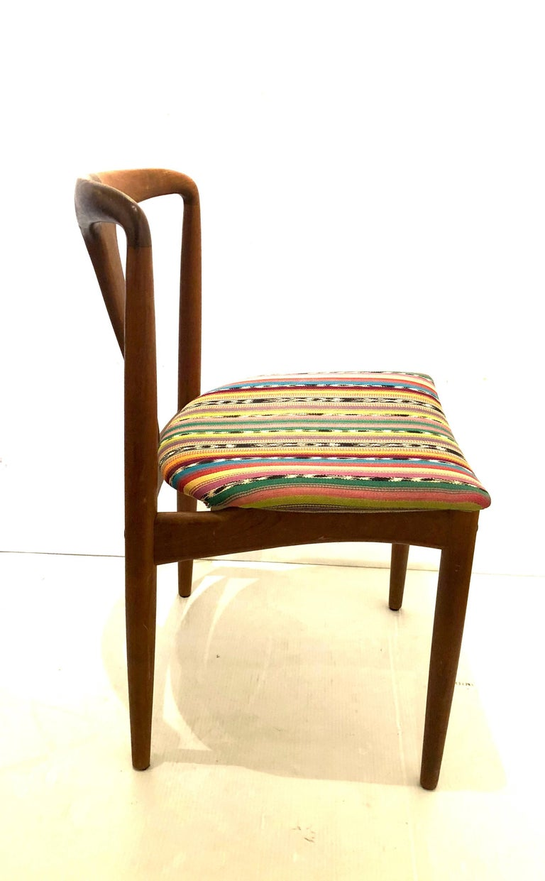 Solid Teak Danish Modern Desk Chair by Johannes Andersen for Uldum Mobelfabrik In Good Condition For Sale In San Diego, CA