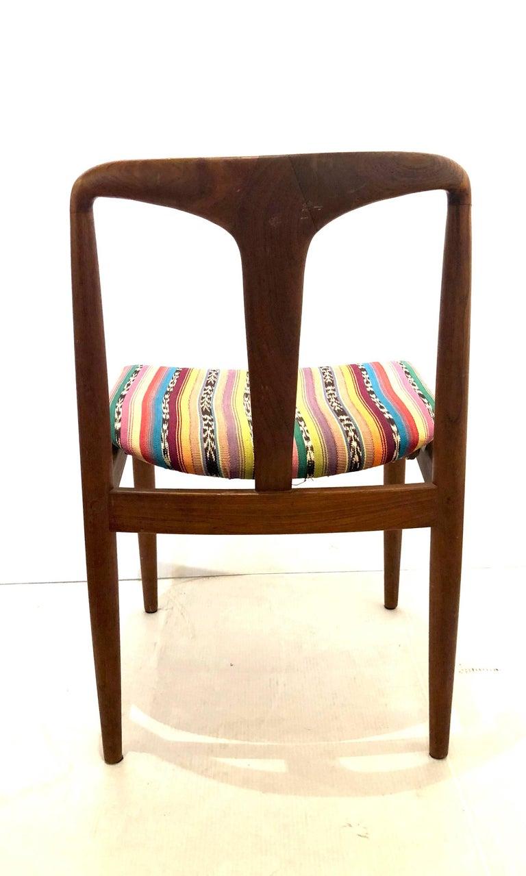 20th Century Solid Teak Danish Modern Desk Chair by Johannes Andersen for Uldum Mobelfabrik For Sale