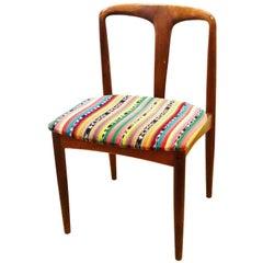 Solid Teak Danish Modern Desk Chair by Johannes Andersen for Uldum Mobelfabrik