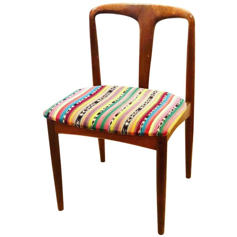 Solid Teak Danish Modern Desk Chair by Johannes Andersen for Uldum Mobelfabrik For Sale