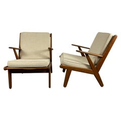 Solid Teak Danish Modernist Lounge Chairs designed by Poul Volther / Denmark