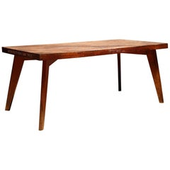 Solid Teak Dining Table by Pierre Jeanneret