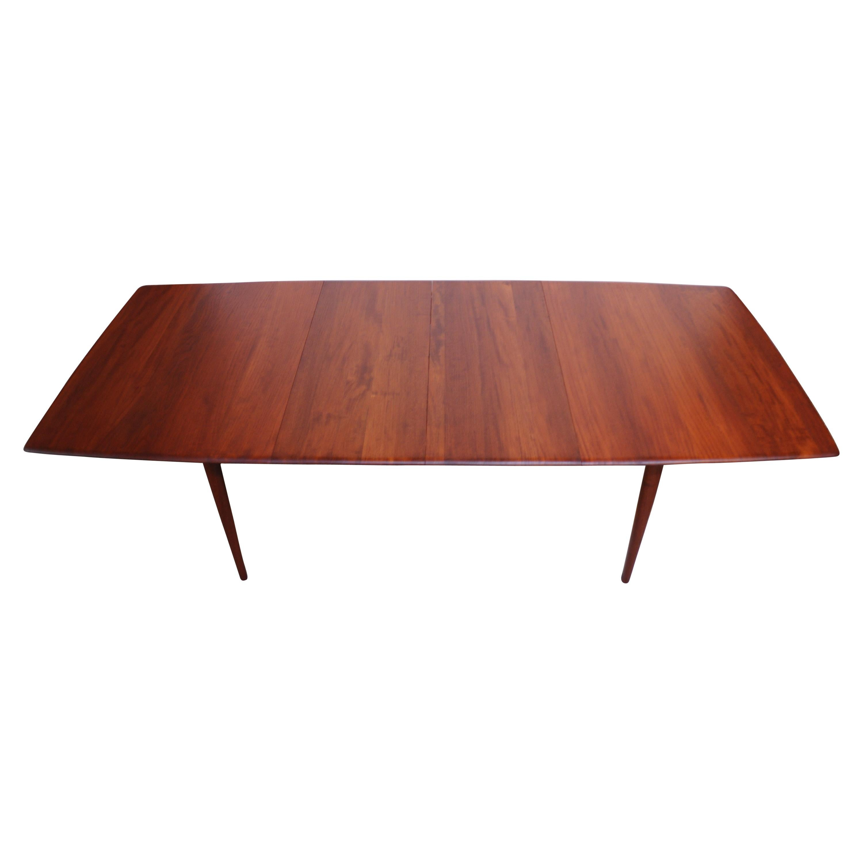 Solid Teak Extendable Dining Table by Johannes Aasbjerg