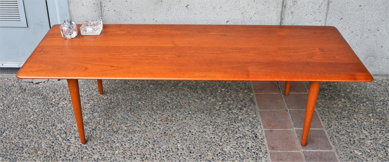 Solid Teak Knife Edge Coffee Table by Hvidt and Molgaard ...