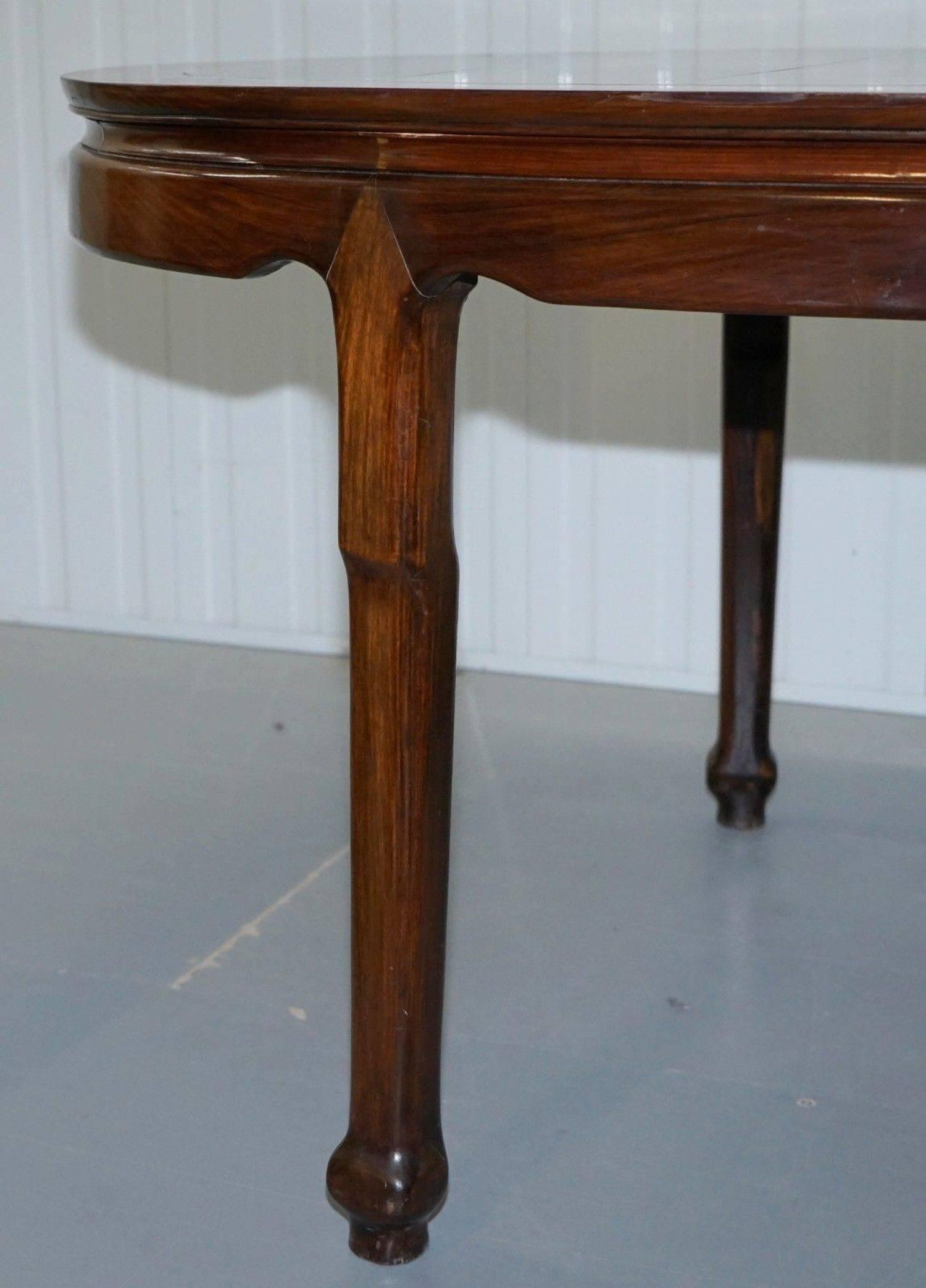 Solid Teak Lovely Patina Chinese Harwood Dining Table to Seat Upto 4 ...