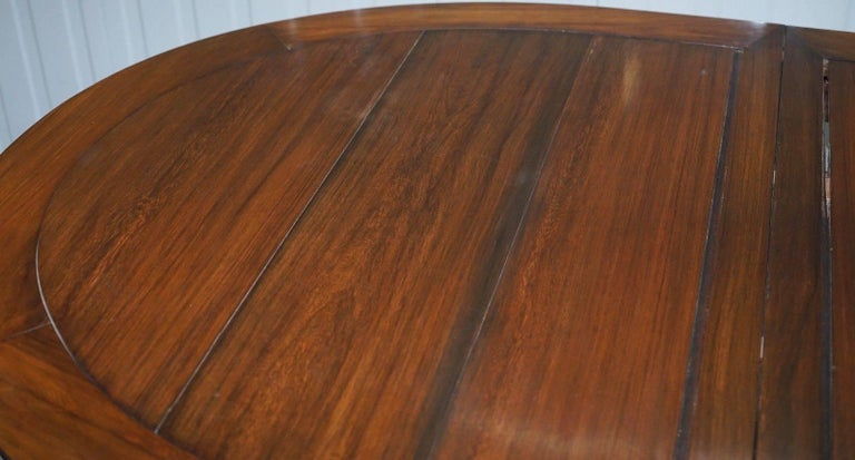 Solid Teak Lovely Patina Chinese Harwood Dining Table To