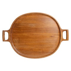 Solid Teak Scandinavian Tray by Jens Harald Quistgaard for Dansk Design
