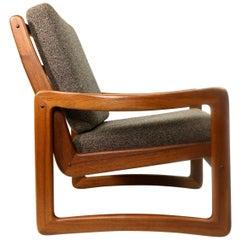 Solid Teak Vintage Sun Cabinet Danish Modern Lounge Chair
