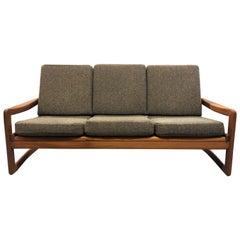 Solid Teak Vintage Sun Cabinet Danish Modern Sofa Couch
