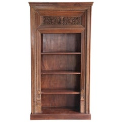 Solid Teak Wood 1910s Barrister Book Case from an English Law Firm in Delhi