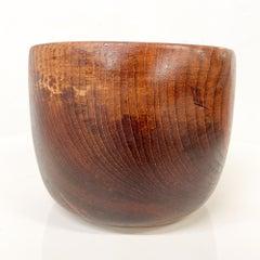 Solid Teak Wood Bowl Made in Sweden Sculptural Danish Scandinavian Modern