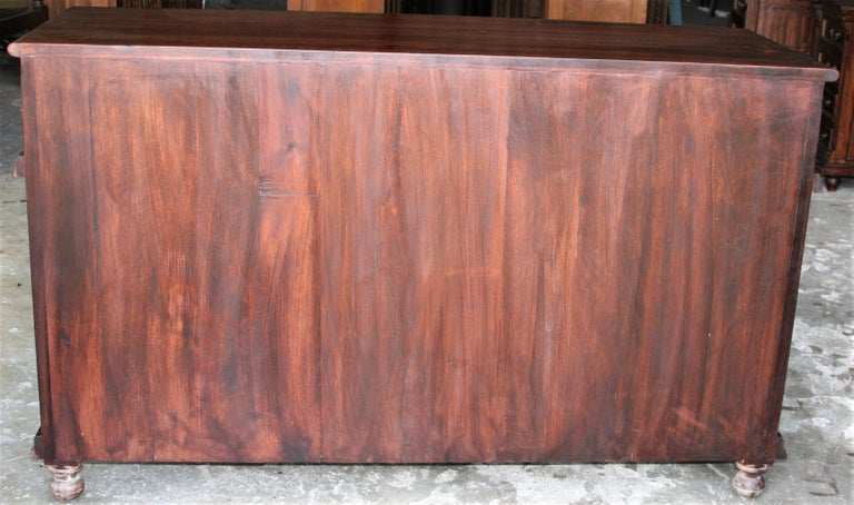 Solid Teak Wood Early 20th Century Superbly Crafted French Colonial Credenza For Sale 7