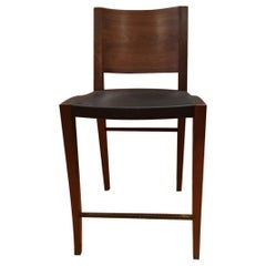 Gavilan Barstool Solid Brass Base With Walnut Details And