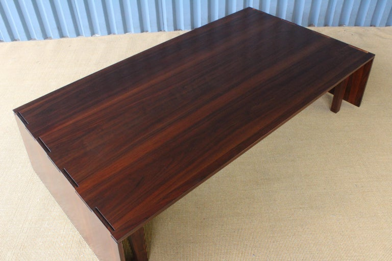 Solid Walnut Convertible Table, 1970s, USA For Sale 4