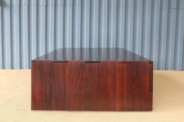 Solid Walnut Convertible Table, 1970s, USA For Sale 6