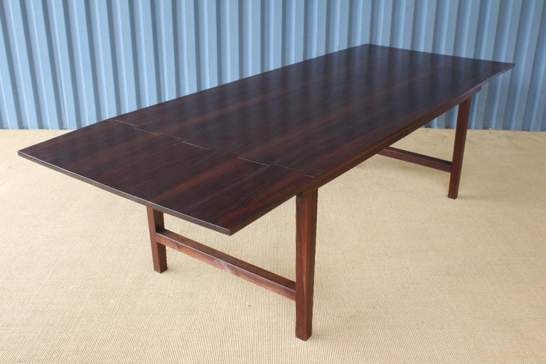 Solid Walnut Convertible Table, 1970s, USA For Sale 7