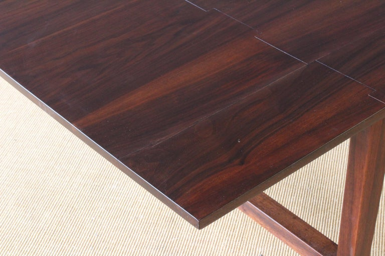 Solid Walnut Convertible Table, 1970s, USA For Sale 8