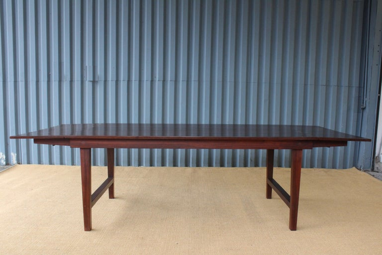 Mid-Century Modern Solid Walnut Convertible Table, 1970s, USA For Sale