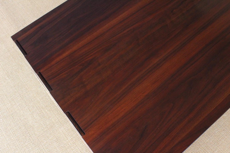 Late 20th Century Solid Walnut Convertible Table, 1970s, USA For Sale