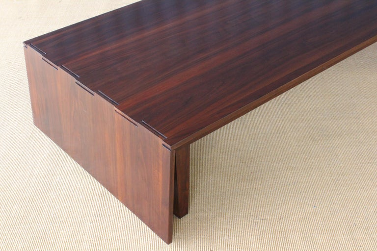 Solid Walnut Convertible Table, 1970s, USA For Sale 2