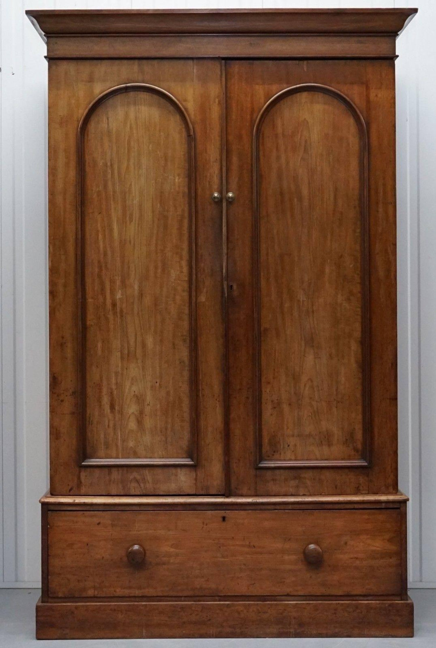 vintage antique furniture wardrobe walnut armoire. Solid Walnut Double Bank Victorian Wardrobe Lovely Aged Vintage Patina Rare Find For Sale At 1stdibs Antique Furniture Armoire L
