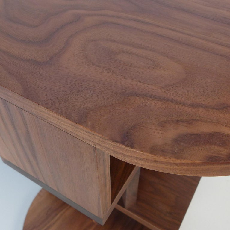 Hand-Crafted Solid Walnut Double Pyramid Side Table For Sale