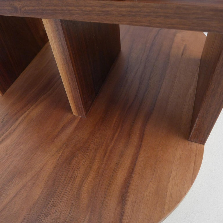 Solid Walnut Double Pyramid Side Table For Sale 1