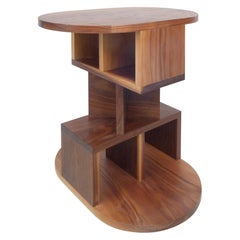 Solid Walnut Double Pyramid Side Table