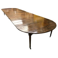 Solid Walnut Extending Dining Table, France, First Half of the 19th Century