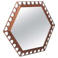 Framed Hexagonal mirror by George Nelson/Arthur Umanoff for Howard Miller