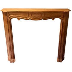 Solid Walnut Hand Carved French Mantel