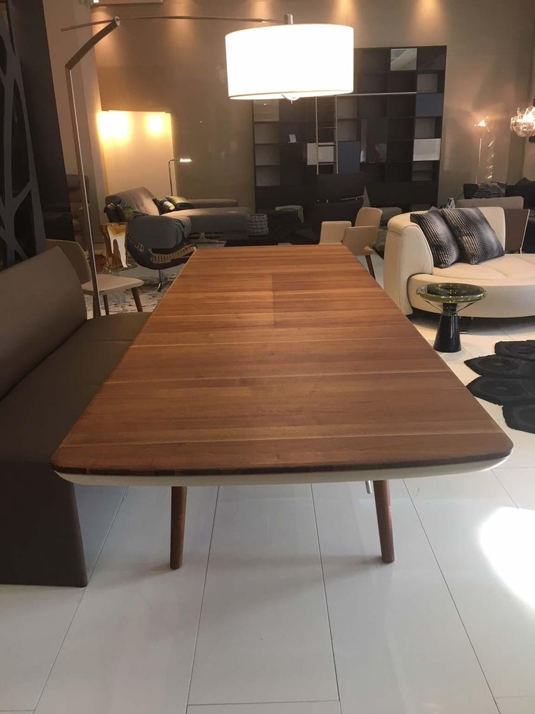 Solid Walnut Wood Extending Table 79