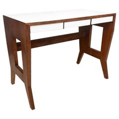 Solid Walnut Writing Desk by Gio Ponti for the University of Padova, Italy, 1955