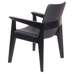 Solid Wood and Leather Arm Chair, Kroft Dining Chair