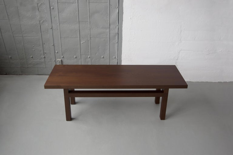 Bleached Solid Wood Contemporary Bench in Walnut by Bellboy For Sale