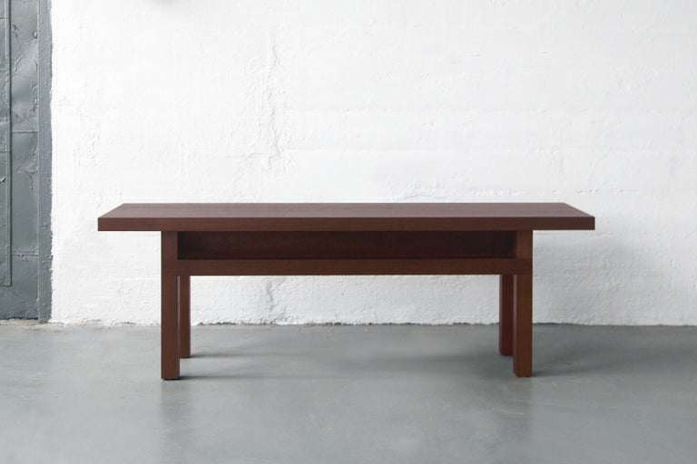 Solid Wood Contemporary Bench in Walnut by Bellboy In New Condition For Sale In Brooklyn, NY