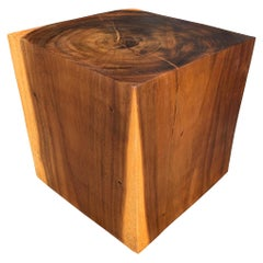 Solid Wood Cube Table