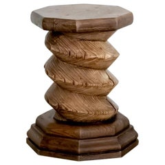 Solid Wood French Twisted Stool
