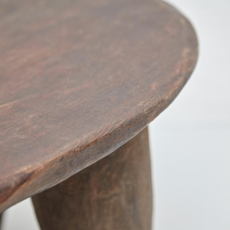 Solid Wood Handmade African Stool, circa 1950 For Sale 7