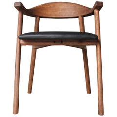 Solid Wood Karve Dining Chair by Möbius Objects, Custom Upholstery